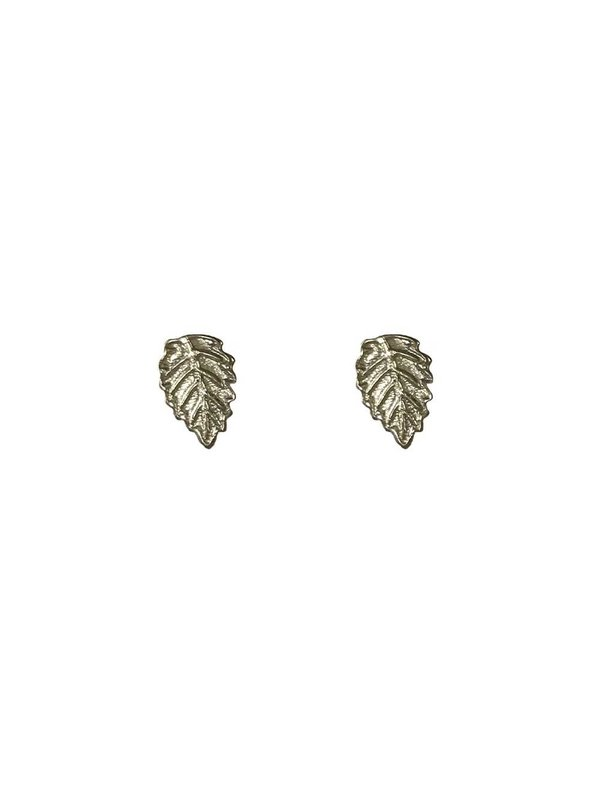 Blinckstar Earring Stud Mini Leaf Silver
