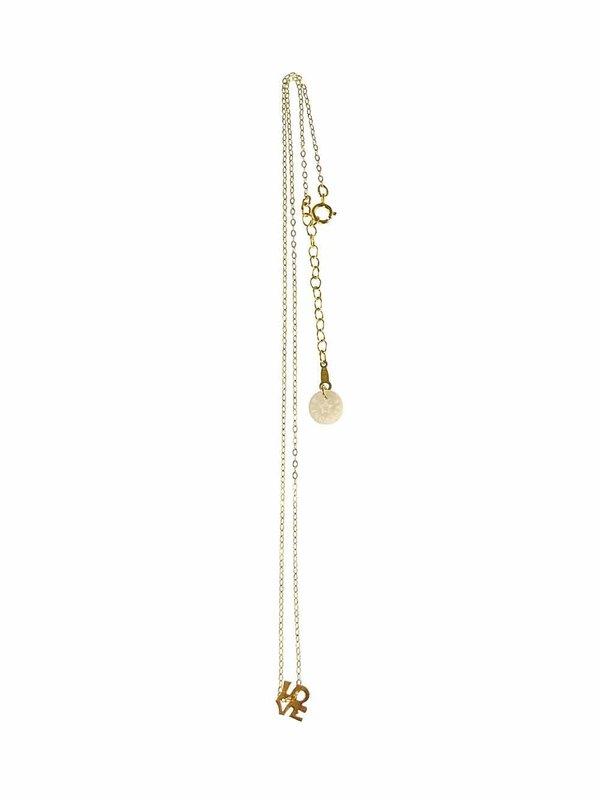 Blinckstar Necklace LOVE Short Gold