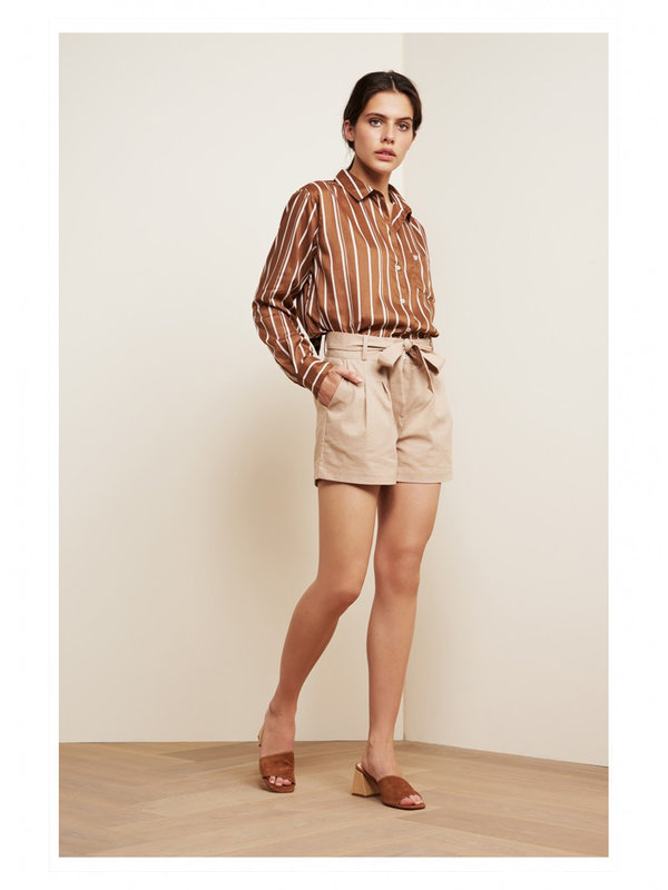 Fabienne Chapot Dharma Blouse Toffee Brown