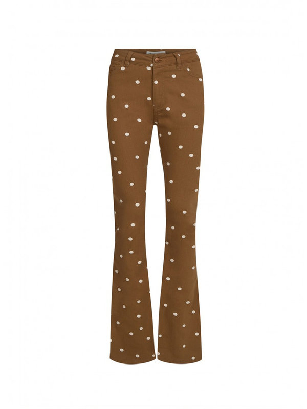 Fabienne Chapot Eva Flare Trousers Toffee Brown