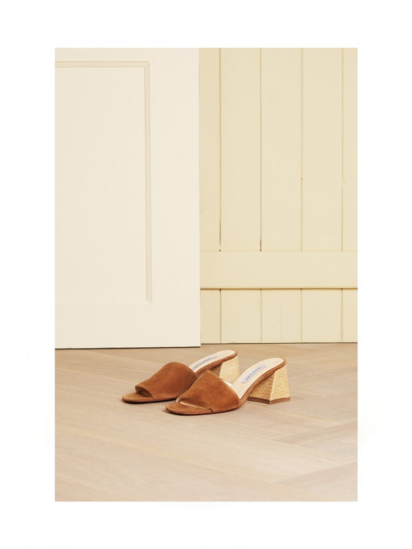 Ted Mule Camel Shoe