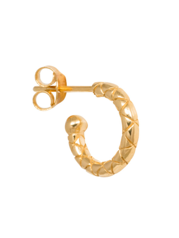 Eline Rosina Mix & Match Single Snake Hoop In Gold Plated