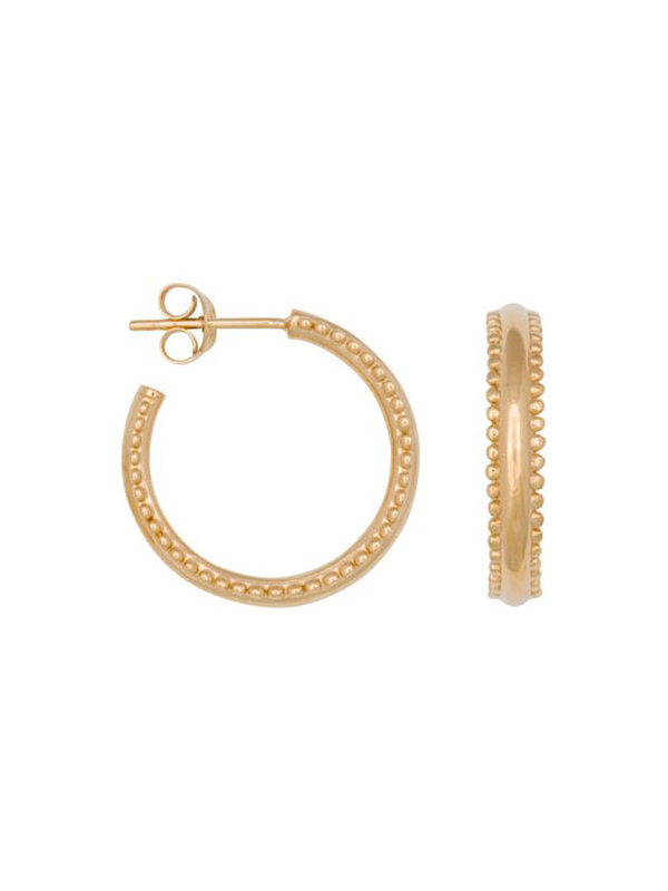Eline Rosina Double Dots Hoops In Gold Plated