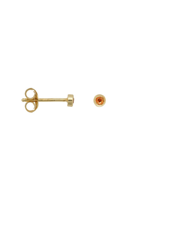 Anna + Nina Single Confetti Stud Orange