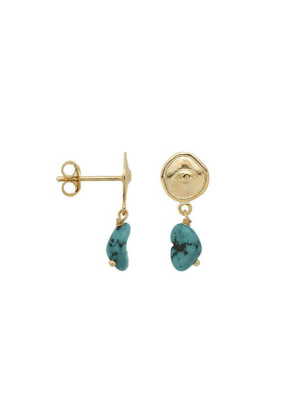 Anna + Nina Single Turquoise Spy Stud