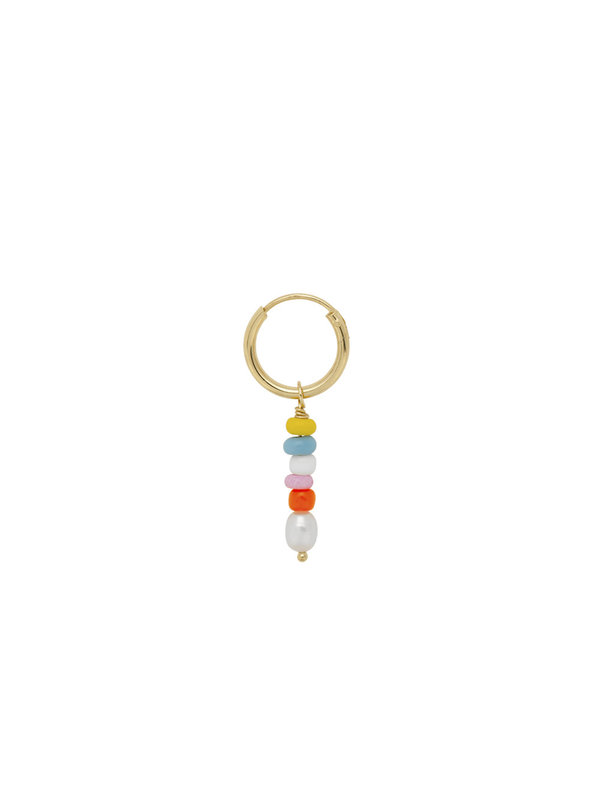 Anna + Nina Single Beaded Ring Earring