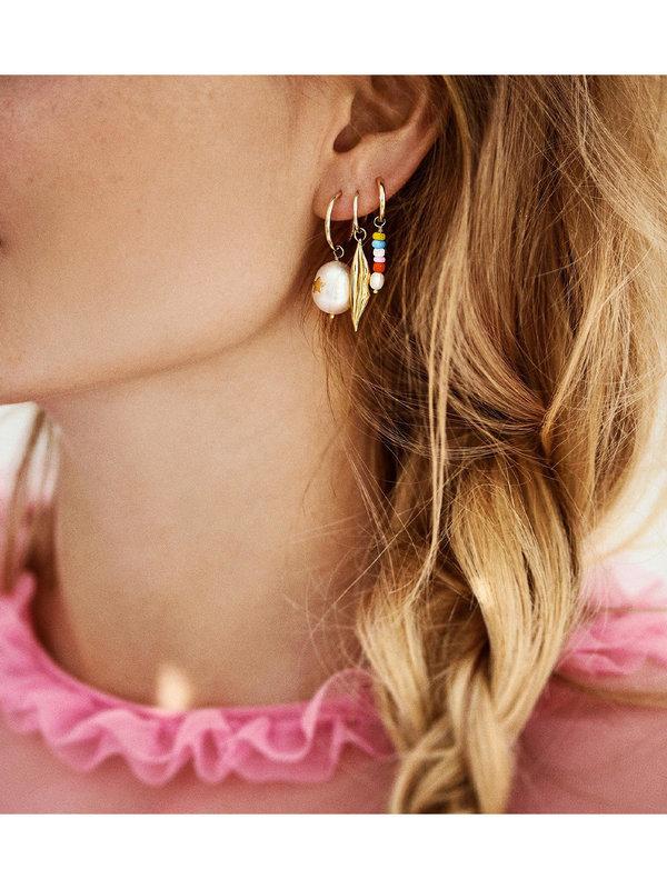 Anna + Nina Single Beaded Ring Earring