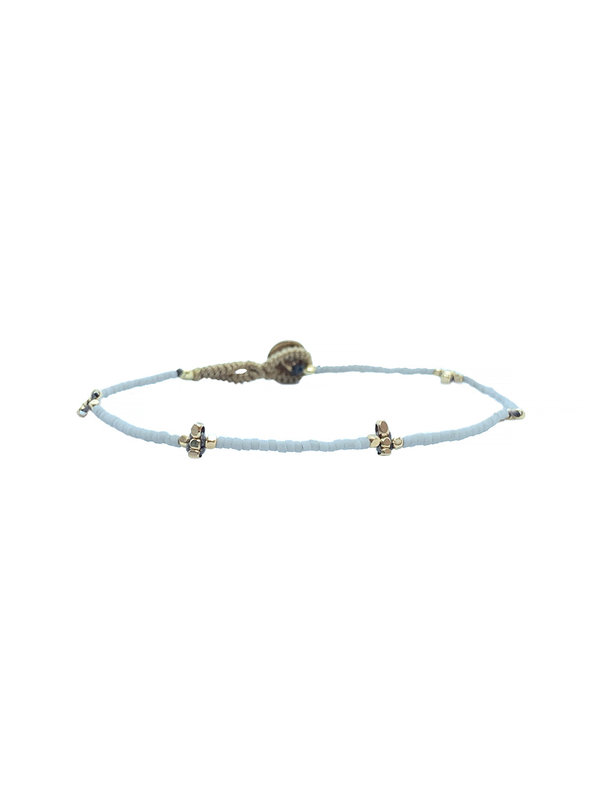 Ibu Jewels Bracelet Lulu Cross Soft Grey