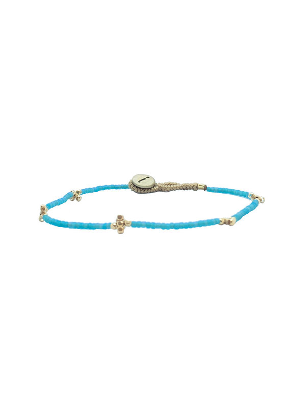 Ibu Jewels Bracelet Lulu Cross Aqua