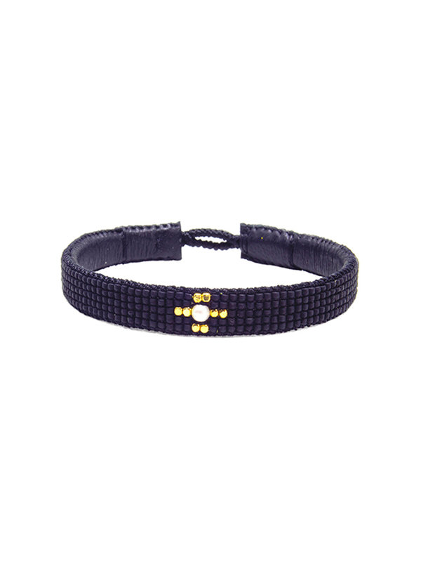 Ibu Jewels Bracelet One Stone Black