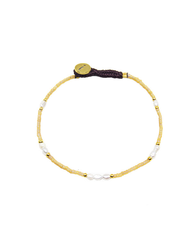 Ibu Jewels Bracelet Lulu Pearls Beige