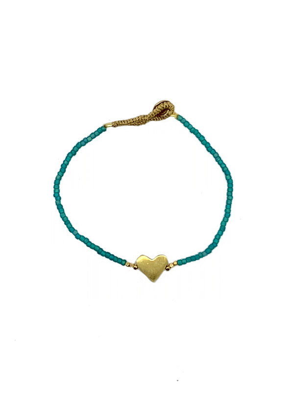 Ibu Jewels Bracelet Lulu Little Heart Aqua