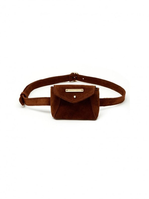 Fabienne Chapot Cindy Mini Purse Belt Toffee Brown One Size