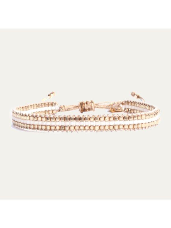 Lobibeads Basic Armband met Wit en Goud