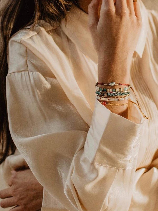 Lobibeads Turquoise Armbandje