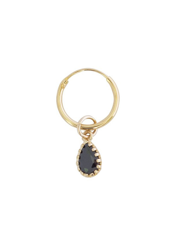 Bobby Rose Earring Onyx Drop