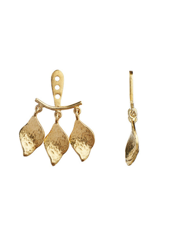 Stine A Three Dancing Ile De L'Amour Behind Ear Earring Gold