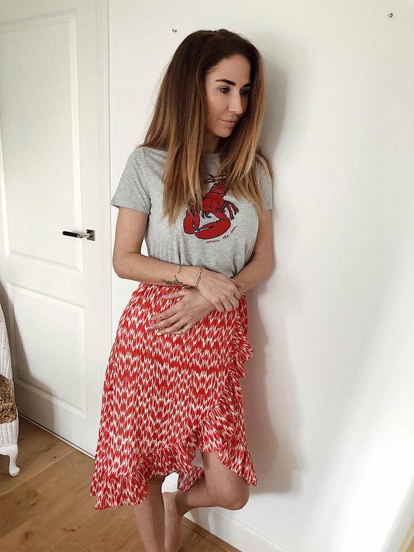 Blake Seven Macie Wrap Skirt Red