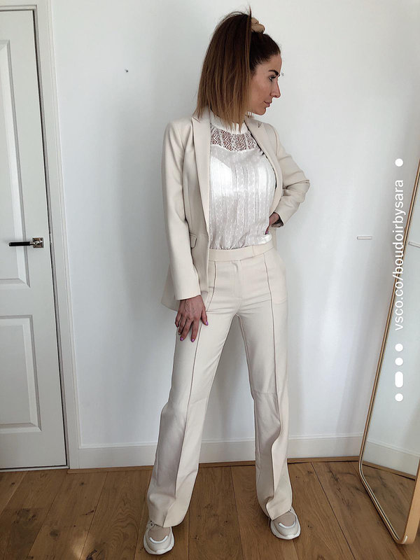 Aaiko Chantalle Twill Pants Cream