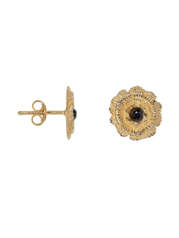 Betty Bogaers Wild Flower Stud Earring Gold Plated