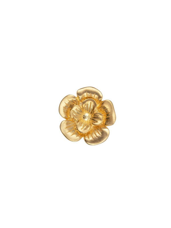 Betty Bogaers Poppy Flower Stud Earring Gold Plated