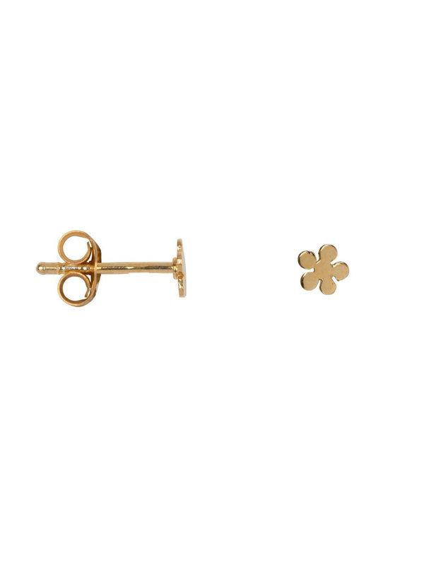 Betty Bogaers Flat Bobble Flower Stud Earring Gold Plated