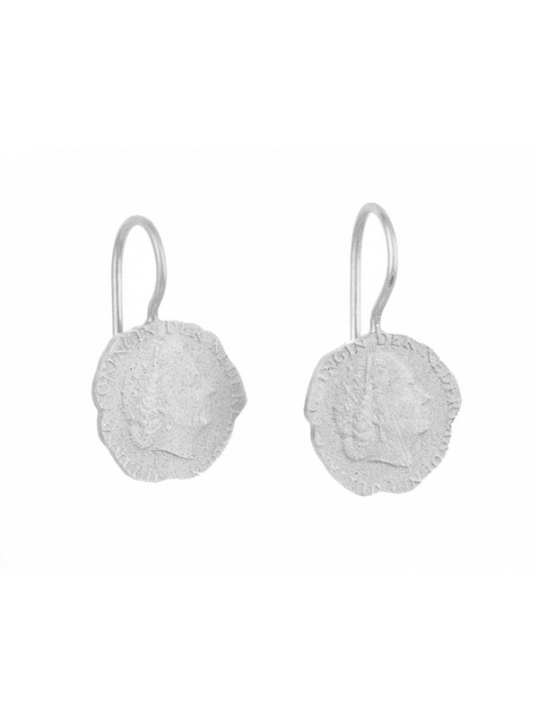 Betty Bogaers Ten Cent Earring Silver