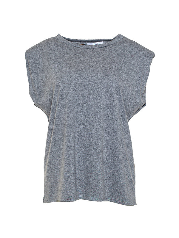 By Sara Collection Rianne Top Grijs One Size