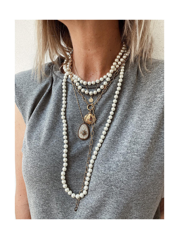 By Sara Collection Necklace Hira With Pearls