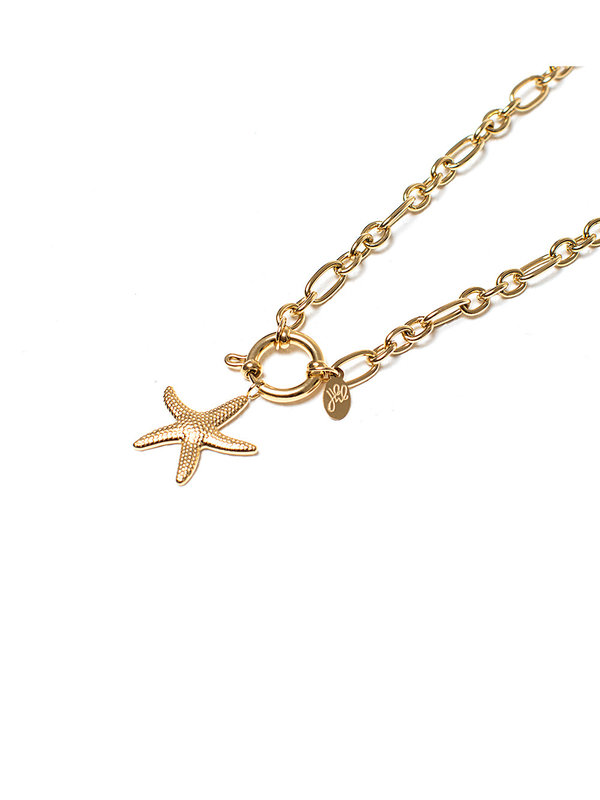 By Sara Collection Big Seastar Gold Plated