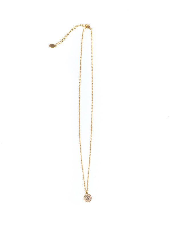 By Sara Collection Necklace Sweet Coin Gold Plated