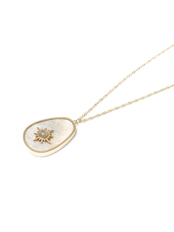 By Sara Collection Necklace Pebble Gold Plated