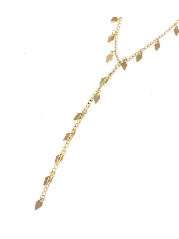 By Sara Collection Necklace Dancing Diamonds Gold Plated
