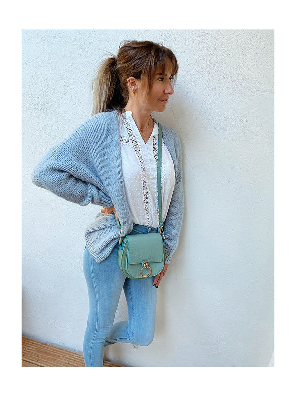 By Sara Collection Lola Knit Blue One Size