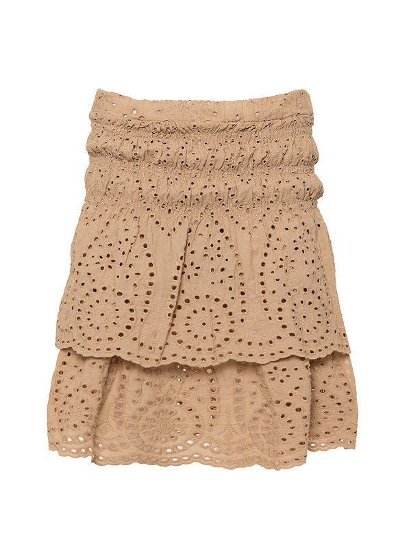 By Sara Collection Lily Skirt Beige Kant One Size