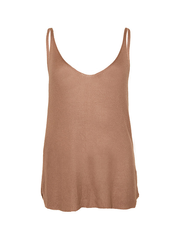 By Sara Collection Top Heli Brown One Size