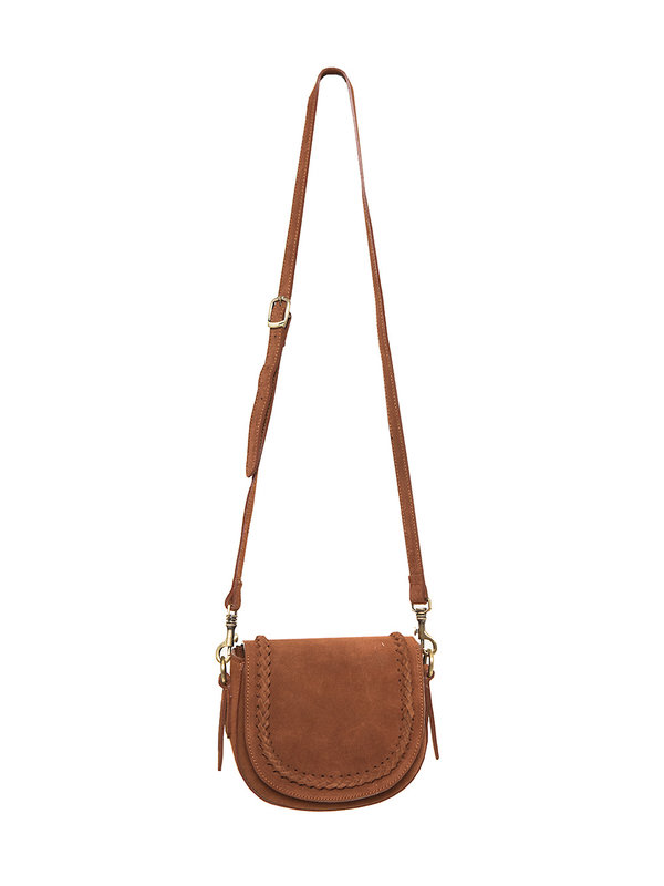 By Sara Collection Chelsea Bag Suede Brown