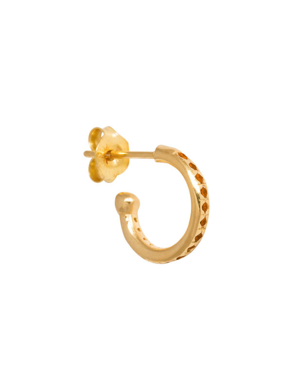 Eline Rosina Mix & Match Single Orange Hoop in Gold Plated