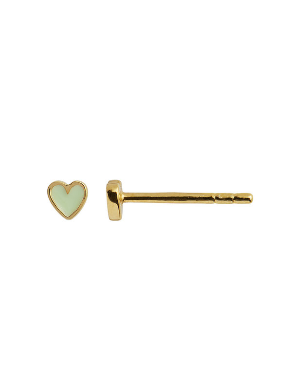 Stine A Stine a Petit Love Heart Mint Green Gold