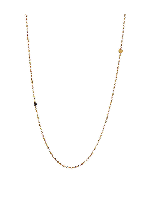 Stine A Pendant Chain With Petit Coin And Black Spinel Necklace