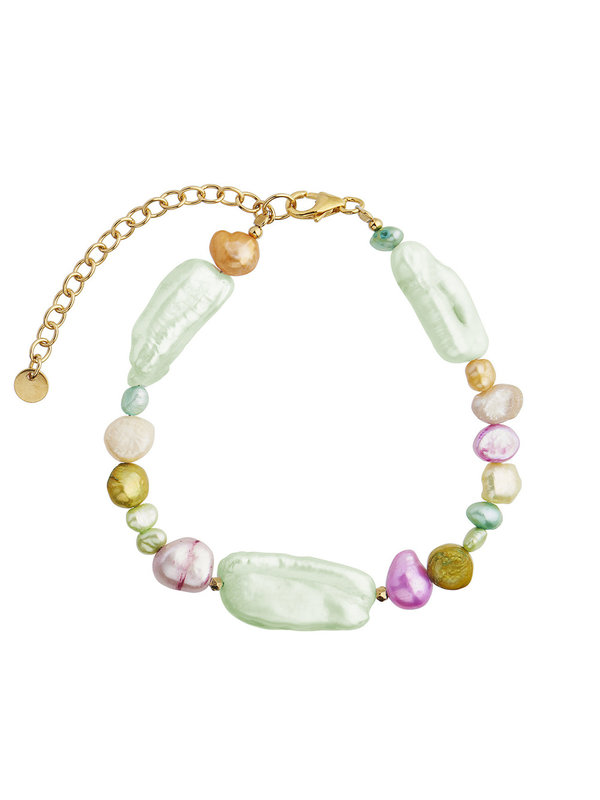Stine A Baroque Pearls Bracelet Blue Mint & Pastel Mix