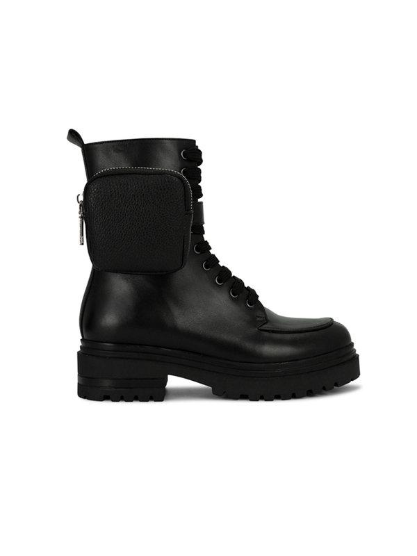 Deabused Nina Biker Boot With Bag Black