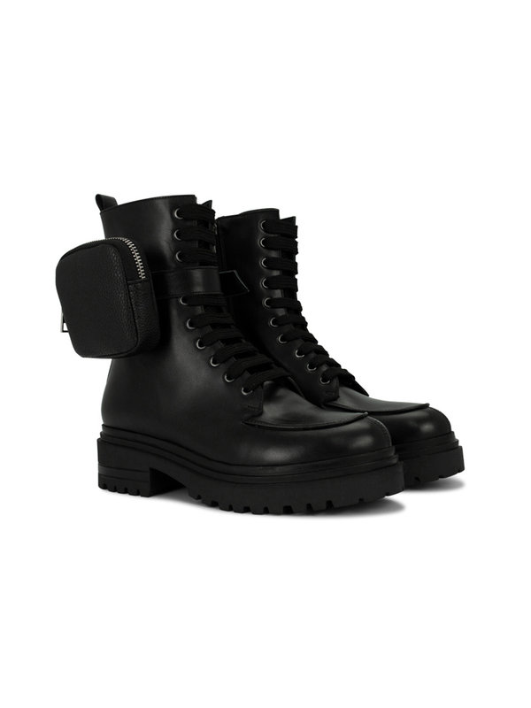 Deabused Nina Biker Boot With Bag Black