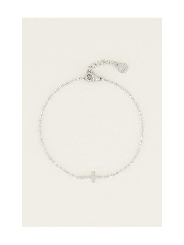 My Jewellery Armband Klein Kruisje Zilver