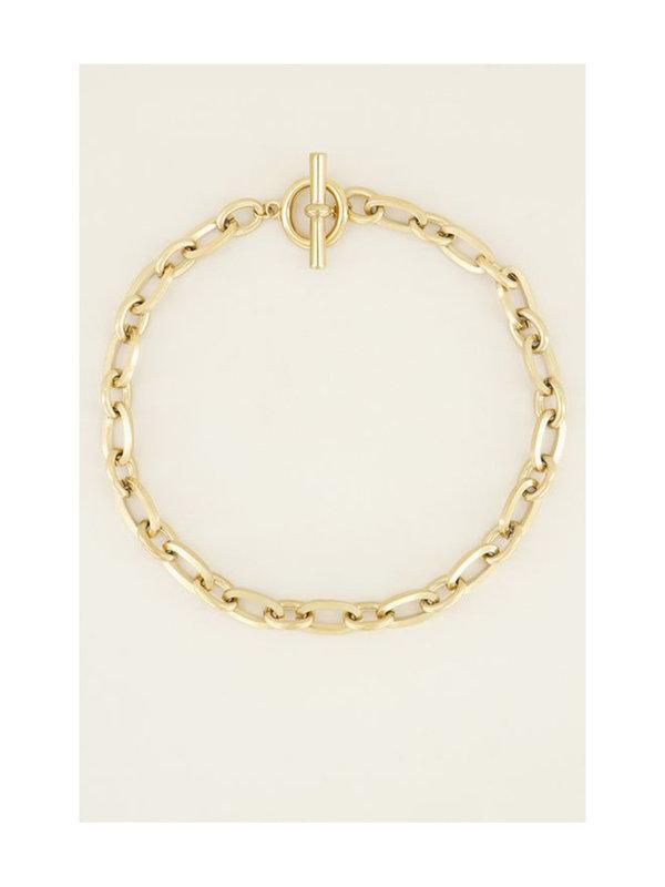 My Jewellery Schakelketting Kapittelslot Goud