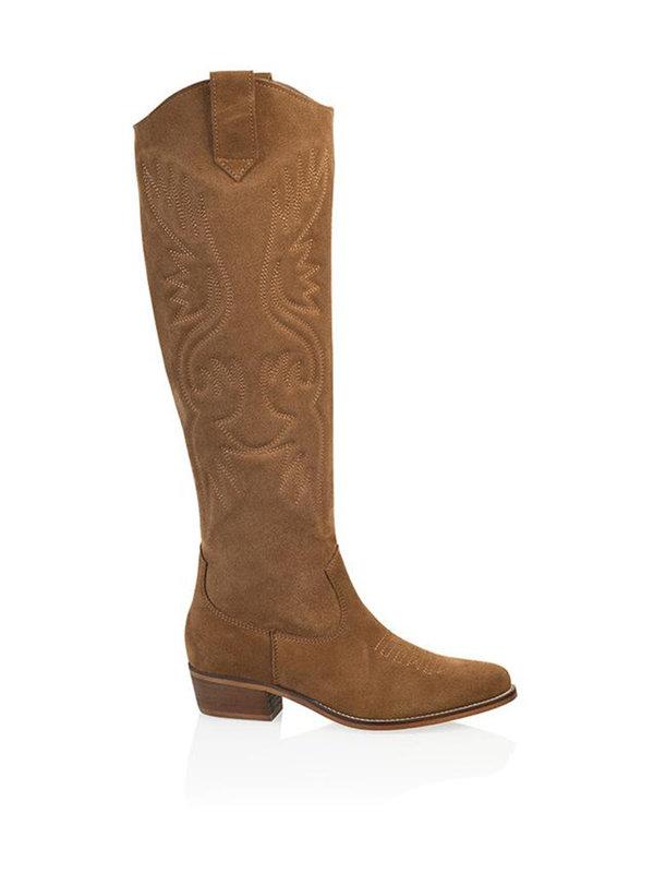 DW\\RS Boots Malaga Suède Cognac