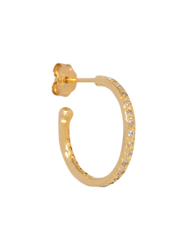 Eline Rosina Mix &  Match Large Zirconia Hoop Gold