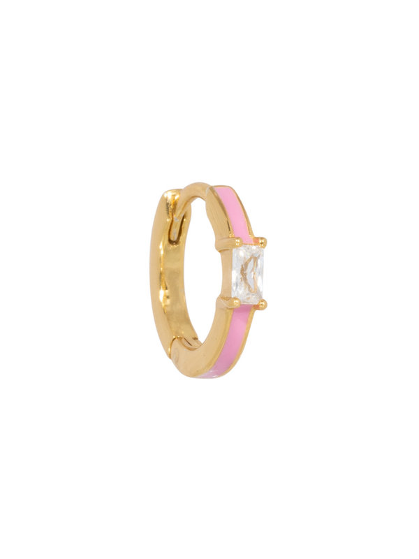 Eline Rosina Blush Pink Hoop in Gold