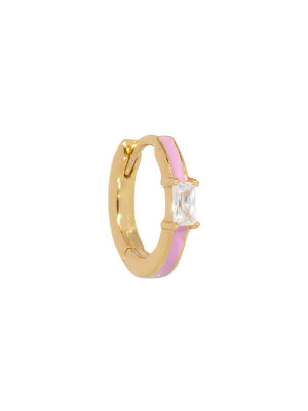 Eline Rosina Blush Lilac Hoop in Gold