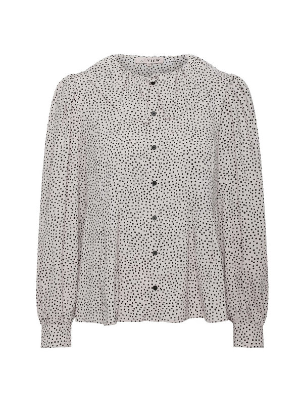A-view Jannie Shirt White With Black Dots